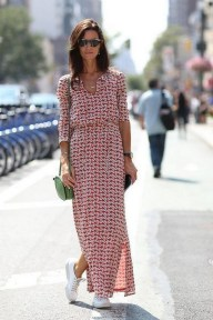 80 Stylish and Comfy Dress and Sneakers Outfit Look 67