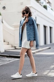 80 Stylish and Comfy Dress and Sneakers Outfit Look 69