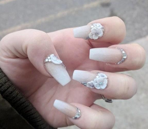 80 The Most Elegant Wedding Nail Art 14