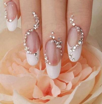 80 The Most Elegant Wedding Nail Art 24