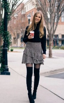 80 Thigh High Boots Outfit Street Style Ideas 01