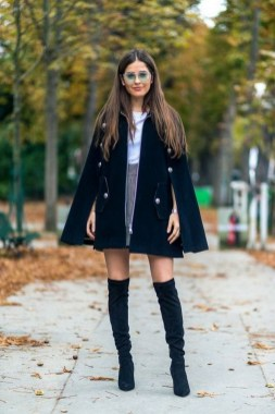 80 Thigh High Boots Outfit Street Style Ideas 14