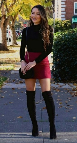 80 Thigh High Boots Outfit Street Style Ideas 31