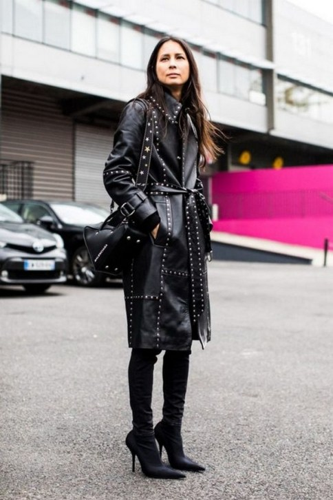 80 Thigh High Boots Outfit Street Style Ideas 38