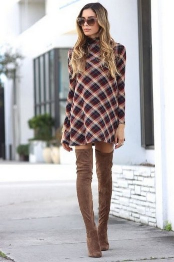 80 Thigh High Boots Outfit Street Style Ideas 71