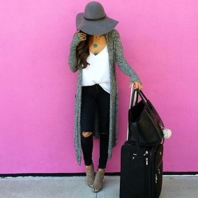 90 Comfy and Fashionable Travel Airport Outfits Looks 11