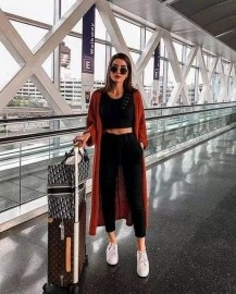 90 Comfy and Fashionable Travel Airport Outfits Looks 2
