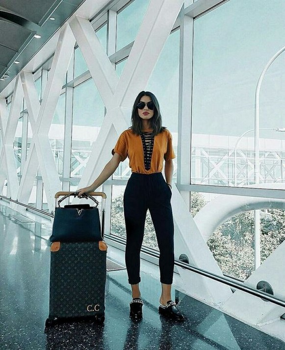 90 Comfy and Fashionable Travel Airport Outfits Looks 90