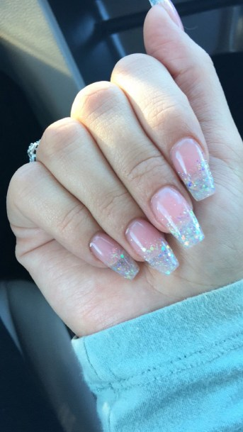 50 Acrylic Nails Ideas with Glitter Which You Love 09