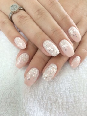 50 Acrylic Nails Ideas with Glitter Which You Love 15