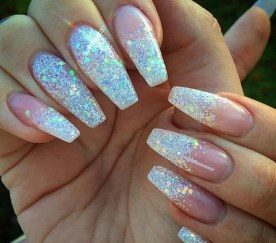50 Acrylic Nails Ideas with Glitter Which You Love 31