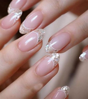 50 Acrylic Nails Ideas with Glitter Which You Love 37