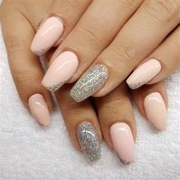 50 Acrylic Nails Ideas with Glitter Which You Love 38
