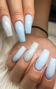 50 Acrylic Nails Ideas with Glitter Which You Love 42