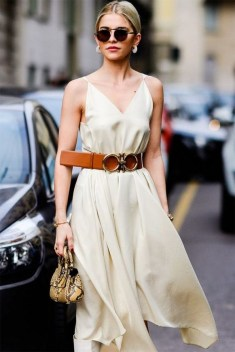 50 Dresses with Belt Styles Ideas 35