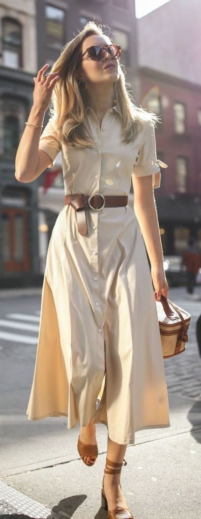 50 Dresses with Belt Styles Ideas 38