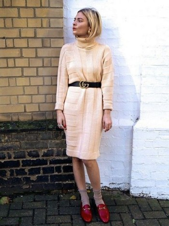 50 Dresses with Belt Styles Ideas 45