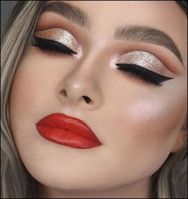 50 Shimmering Eye Makeup for Party Ideas 31