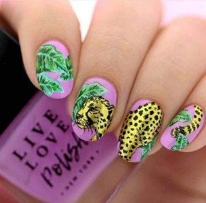 53 Ideas Fresh New Look Tropical Nail Designs 18
