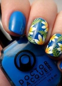 53 Ideas Fresh New Look Tropical Nail Designs 28
