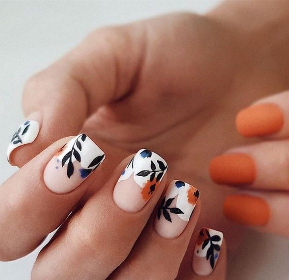 53 Ideas Fresh New Look Tropical Nail Designs 36