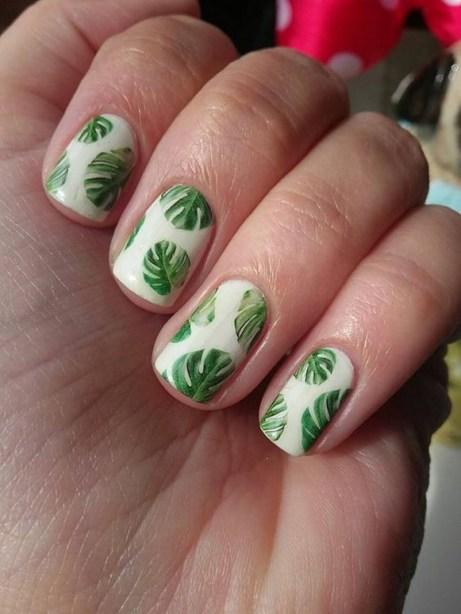 53 Ideas Fresh New Look Tropical Nail Designs 41