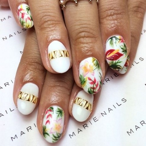 53 Ideas Fresh New Look Tropical Nail Designs 43