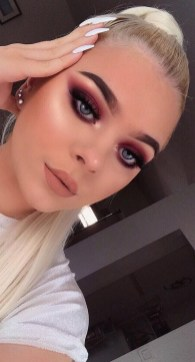 60 Lovely Makeup For Valentines Day Look Ideas 08