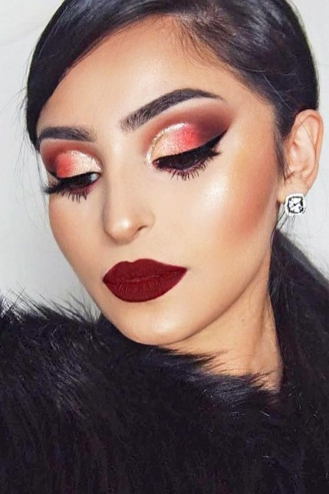 60 Lovely Makeup For Valentines Day Look Ideas 09