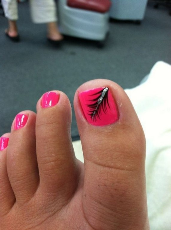 50 Ideas lovely Pink Toe Nail Art for Valentines Day 06