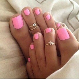 50 Ideas lovely Pink Toe Nail Art for Valentines Day 09