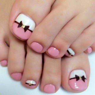 50 Ideas lovely Pink Toe Nail Art for Valentines Day 35