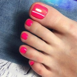 50 Ideas lovely Pink Toe Nail Art for Valentines Day 55