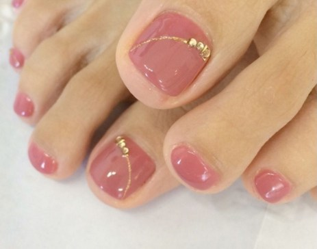 50 Ideas lovely Pink Toe Nail Art for Valentines Day 59