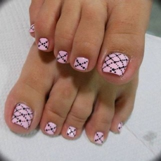 50 Ideas lovely Pink Toe Nail Art for Valentines Day 60
