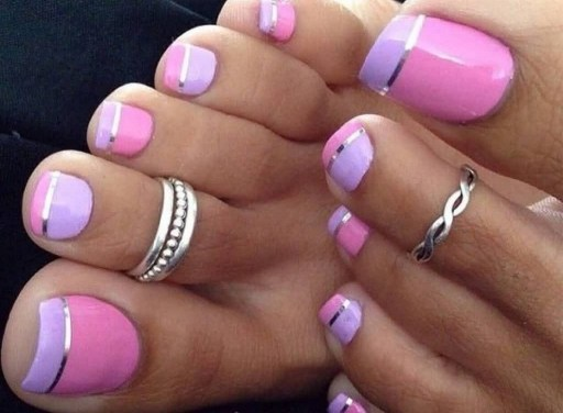 50 Ideas lovely Pink Toe Nail Art for Valentines Day 67