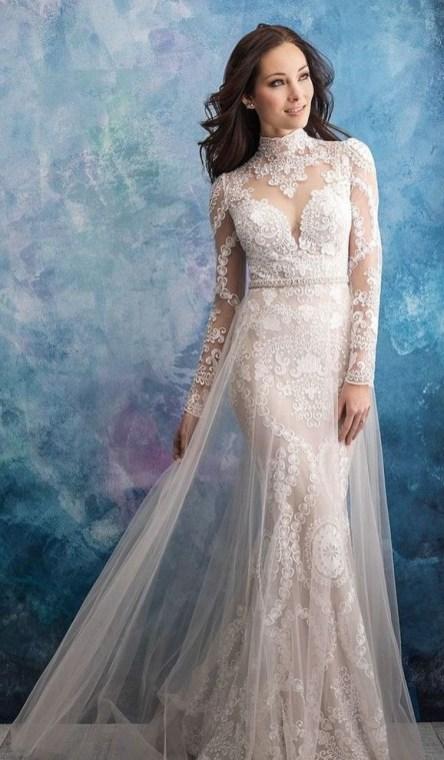 60 Victorian Styles Neckline for Wedding Dress Ideas 12