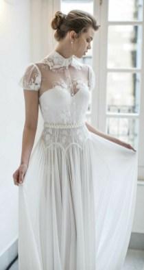 60 Victorian Styles Neckline for Wedding Dress Ideas 20