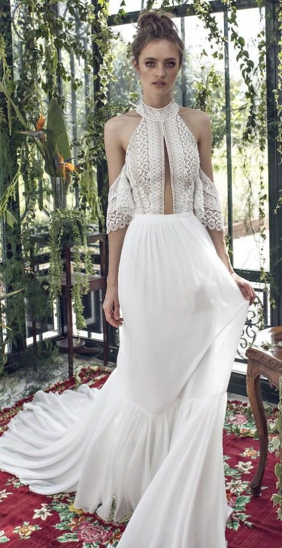 60 Victorian Styles Neckline for Wedding Dress Ideas 31