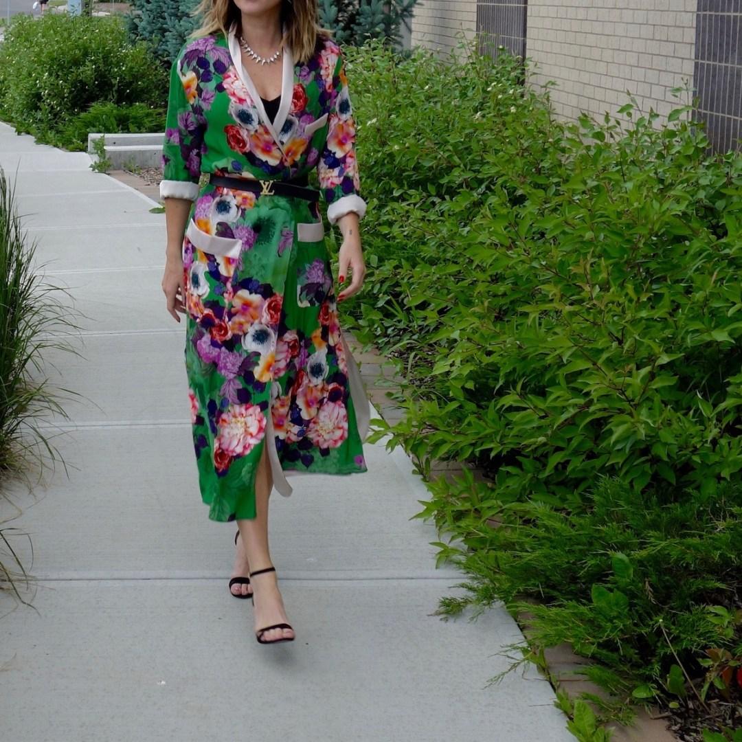 Zara, zara kimono, kimono as a dress, silk jacket, wrap dress