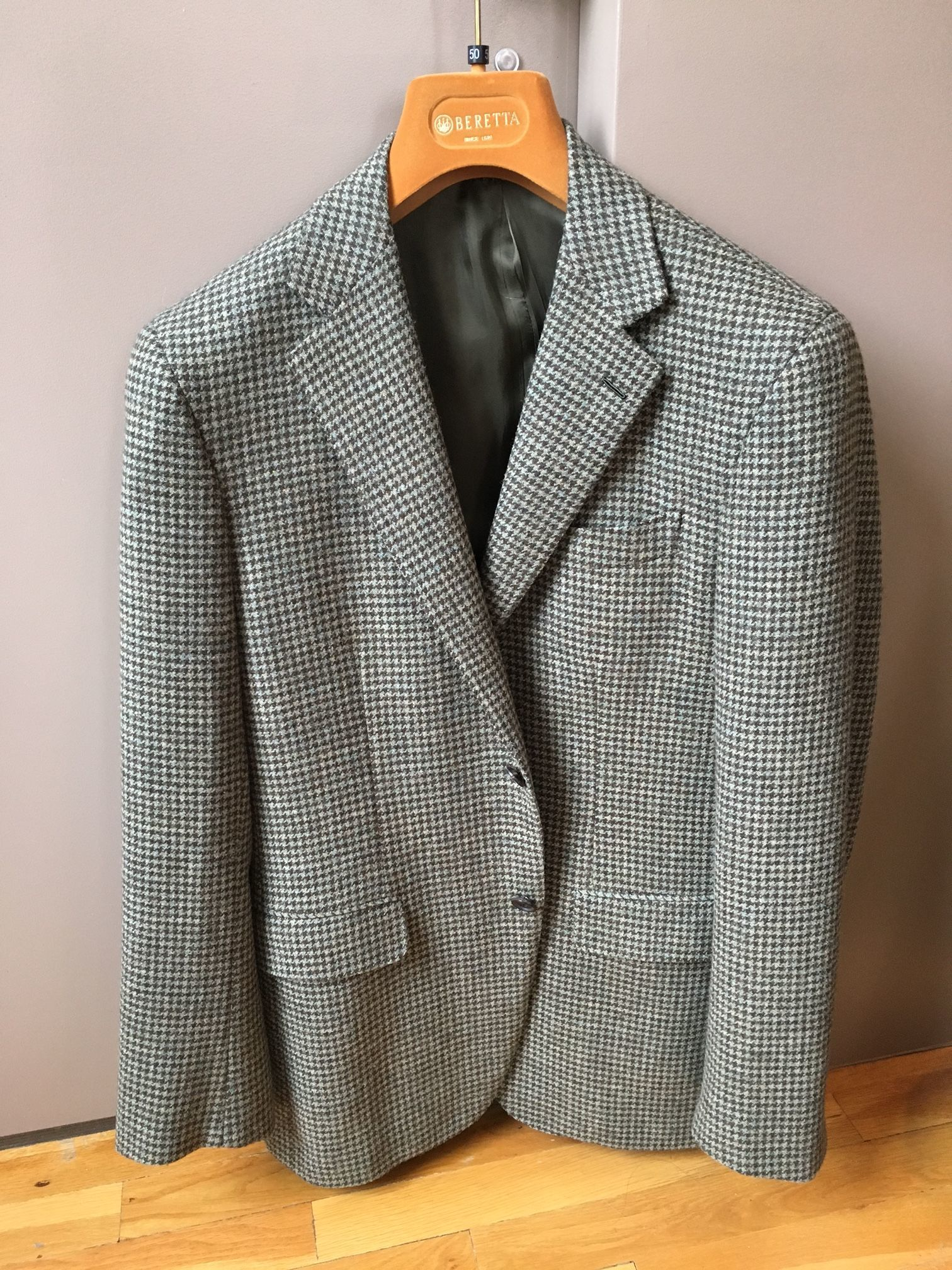 Milanese Buttonhole : milanese, buttonhole, Caruso, Sport, (48eu)-, Green, Houndstooth, Tweed., Milanese, Buttonhole, Styleforum