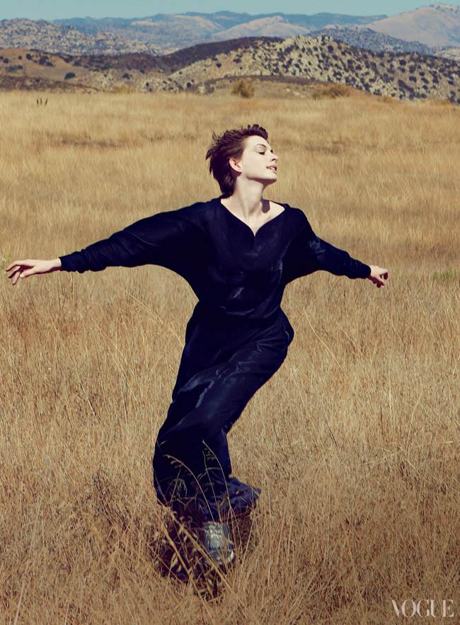 Anne Hathaway Vogue by Annie Leibovitz