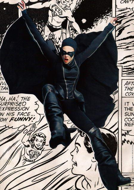 Coco Rocha in Vogue May as Batman