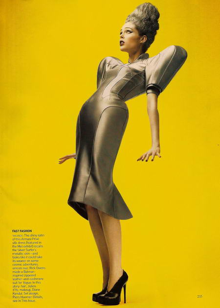 Coco Rocha in Vogue as The Silver Surfer