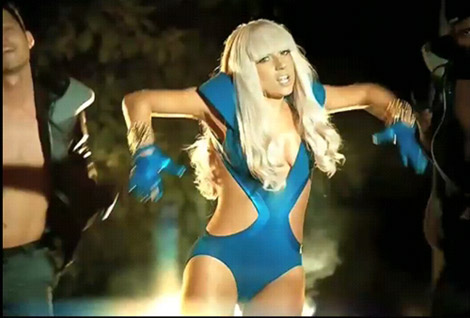 Lady Gaga in the Poker Face video