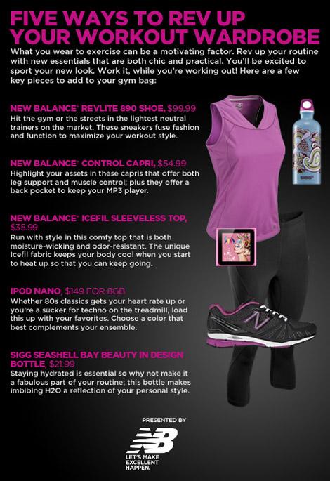 Stylish workout Outfit purple New Balance
