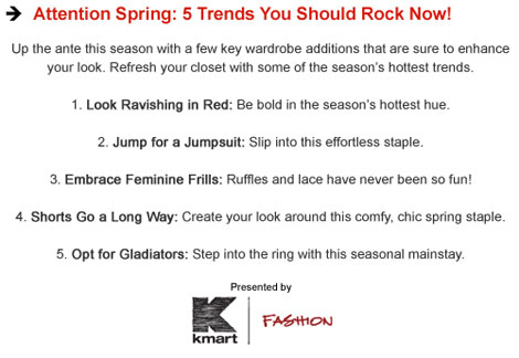 what to wear this season from Kmart