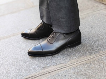 Men's Wardrobe Essential: Black Captoe Dress Shoes