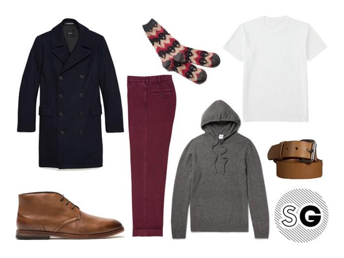 running errands, topcoat, chinos, hoodie, sid mashburn, cashmere, anonymous ism,