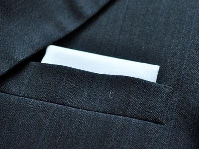 Men's Wardrobe Essential: White Cotton Pocket Square